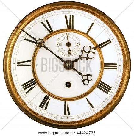 Antique Clock Face Isolated