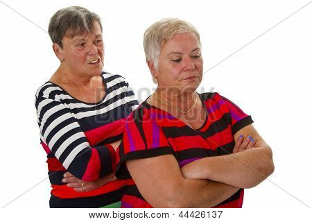 Two Female Seniors In Dispute