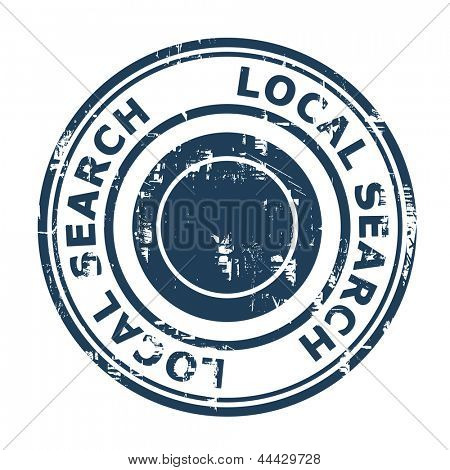 Local search SEO concept stamp isolated on a white background.