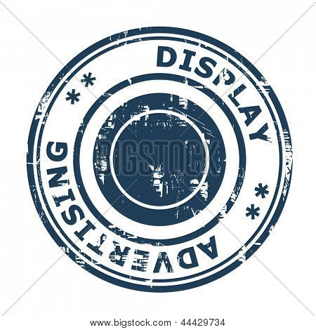 Display advertising concept stamp isolated on a white background.