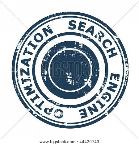 Search Engine Optimization stamp isolated on a white background.