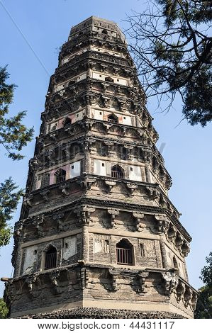 Tiger Hill Pagoda In Suzhou
