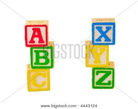 Abc And Xyz Blocks Stacked