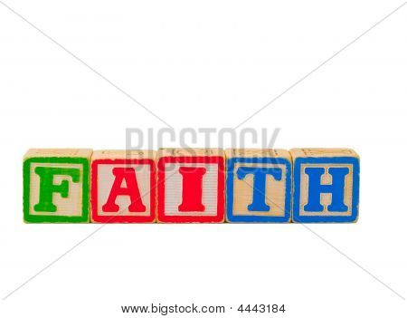 Faith Letter Blocks Horizontal