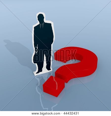 Businessman And Questionmark