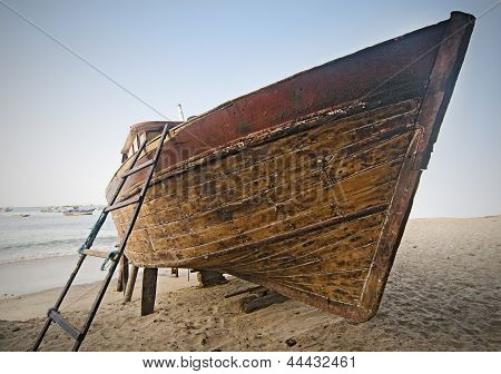 Wooden Boat at Shore
