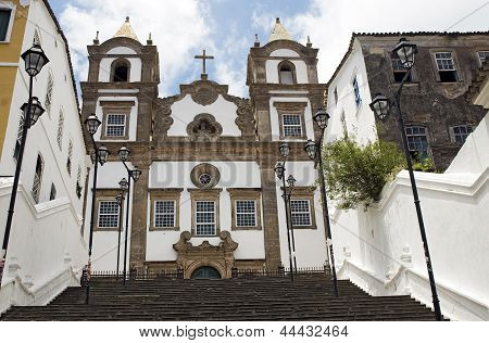 Colonial Church at Salvador da Bahia, Brazil