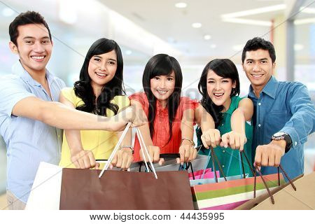 Group Of People Shopping