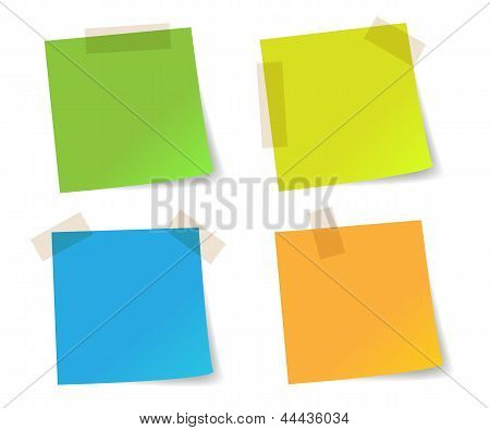 Stick note papers colorful