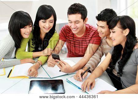 Students With Handphone