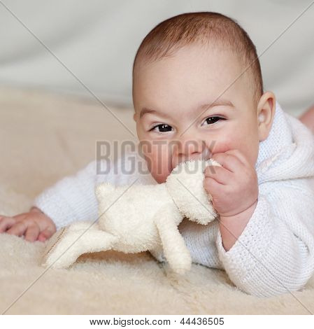 Baby With Soft Toy
