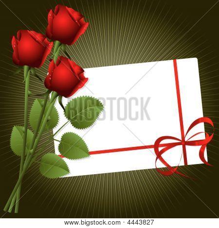 Rosas con postal