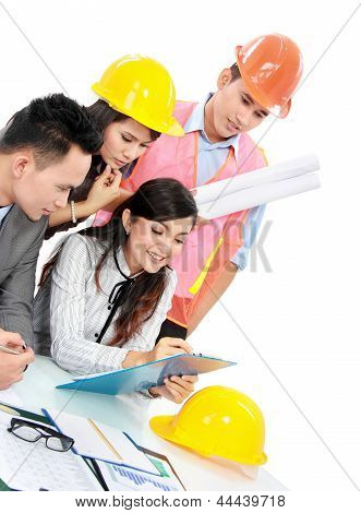 Contractor With Business People