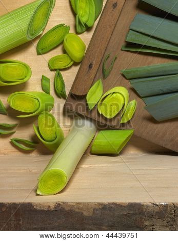 Leek And Slicer