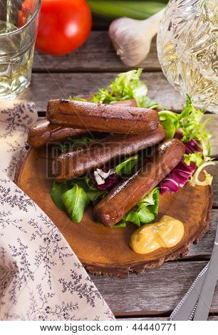 Picnic With Grilled Sausages