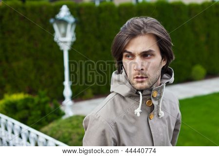 Handsome Young Man With Worried Look