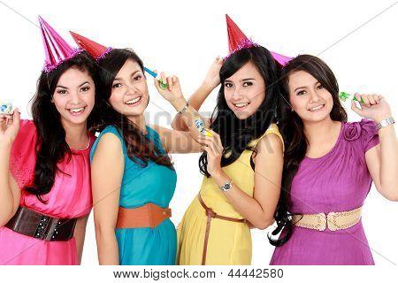 Beautiful Girls Celebrate Birthday