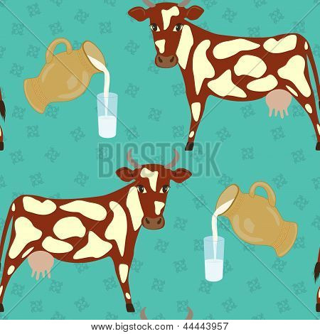 cow and glass of milk