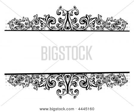 Vector Illustration Of A Floral Border