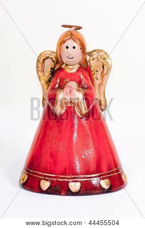 Angel Figurine Praying And Smiling