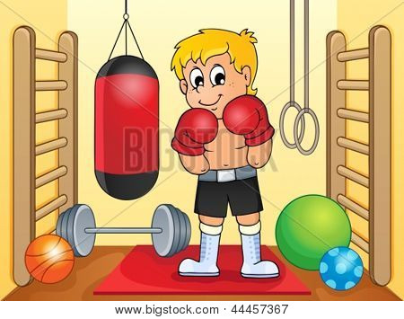 Sport and gym theme image 6 - eps10 vector illustration.