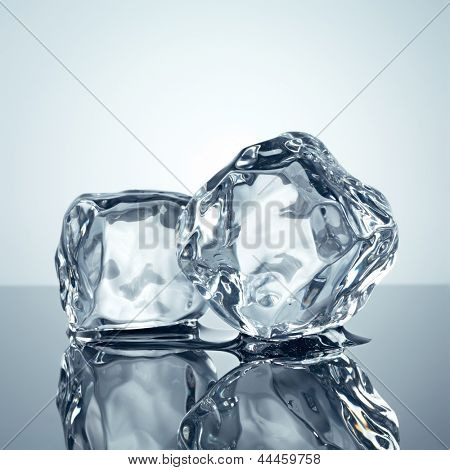 ice cubes minimalistic background