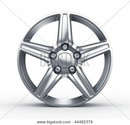 3d rendering of an alloy rim seen straight on