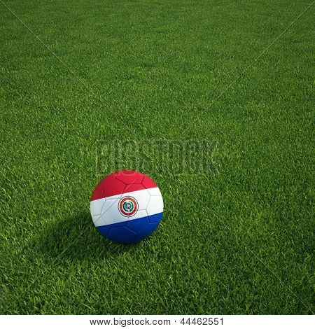 3D-Rendering ein paraguayischer Soccerball lying on grass