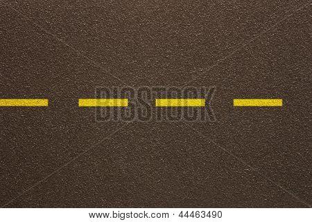 Photo of Asphalt - Single dashed line (Texture)