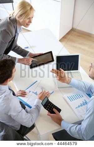 Executive woman making business presentation
