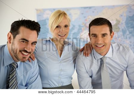 Successful business team portrait