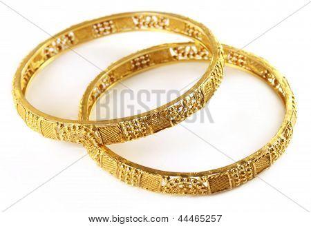 Wedding gold bracelets for Indian bride