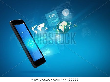 Modern communication technology mobile phone