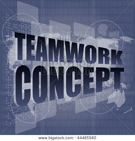 Teamwork Concept - Business Growth On Touch Screen
