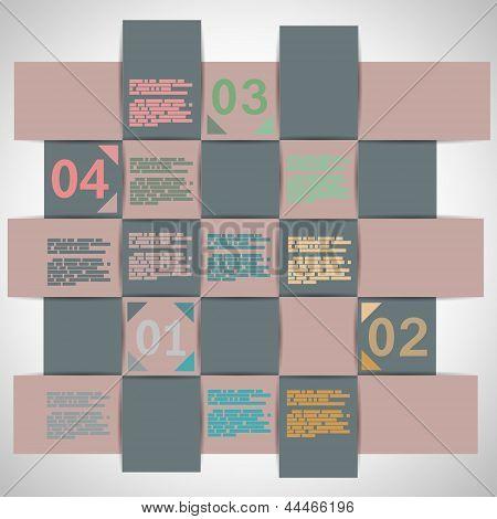 Paper Strips For Data Presentation Eps10 Vector Illustration