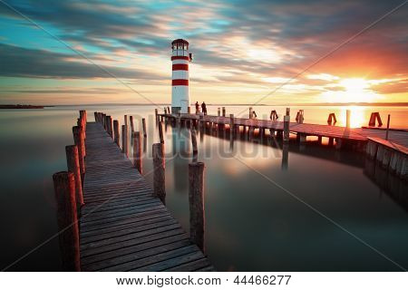 Lighthouse - Lake In Austria