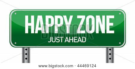 Happy Zone Sign