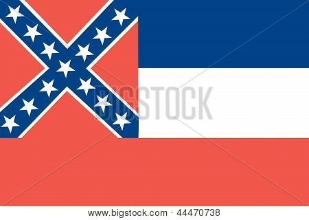 Flag of the American State of Mississippi
