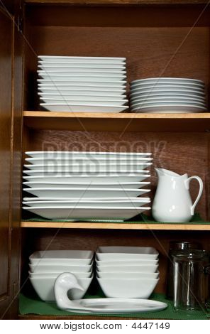 Kitchen Cabinet With Dishes
