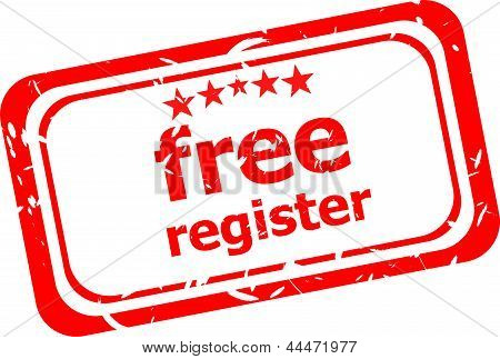 Free Register Red Stamp