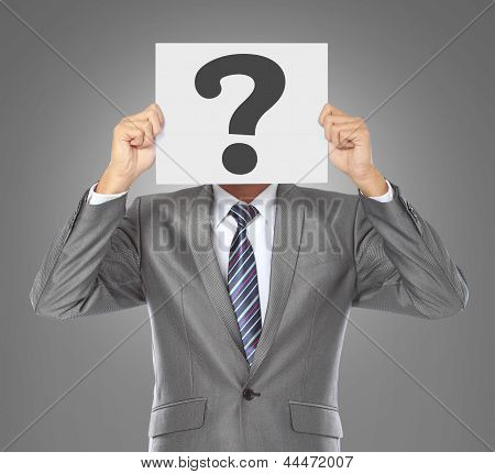 Businessman With Question Mask