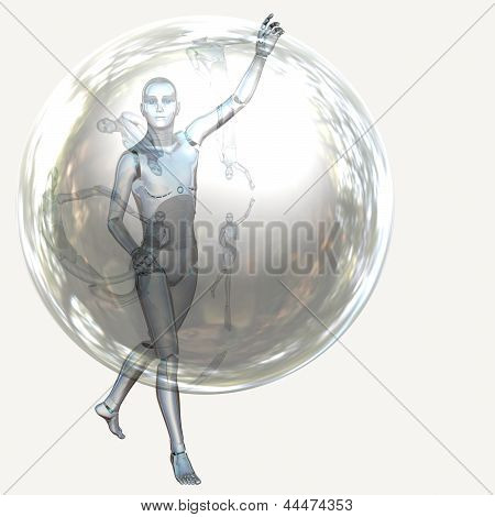 Robot With Bubble