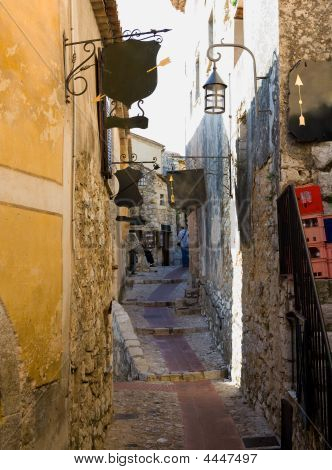 Narrow Street In Eze Village