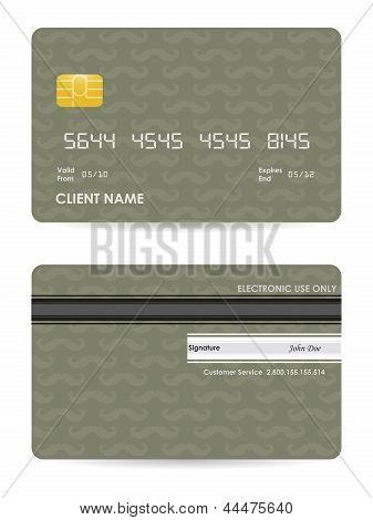 Vector Illustration Of Detailed Credit Card