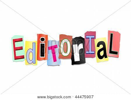 Editorial Concept.