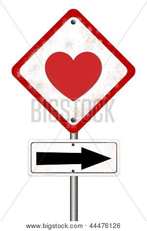 Road Sign With Love