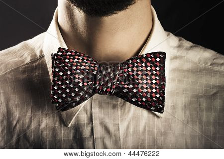 Man Wearing An Elegant Bow Tie