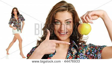 Apple And Woman