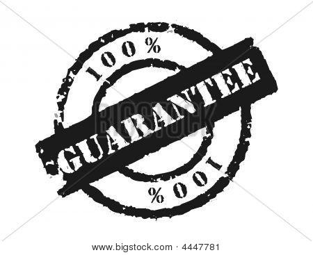 Stamp '100% Guarantee'