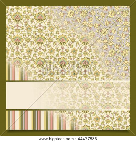 Vintage Abstract Retro Background Greeting Card